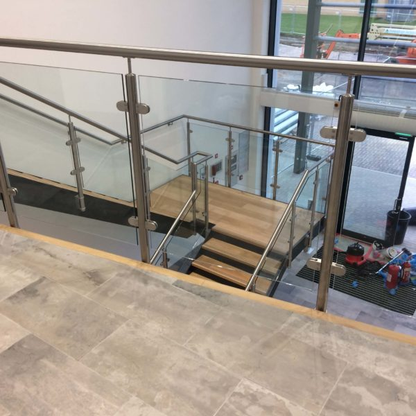 Glass, tile floor and main entrance door cleaned