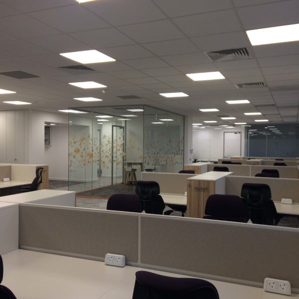 Total office clean inc ceiling lights