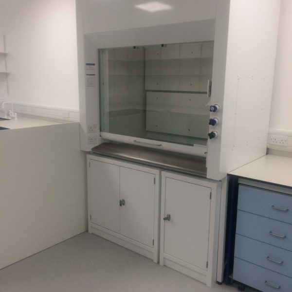 Laboratory equipment cleaned inside and out