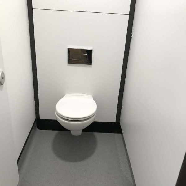 Toilet area cleaned
